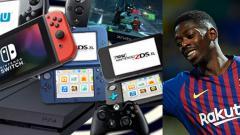 Indosport - Pemain bintang Barcelona, Ousmane Dembele gemar bermain video game.
