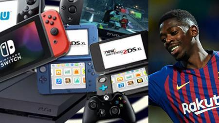 Pemain bintang Barcelona, Ousmane Dembele gemar bermain video game. - INDOSPORT