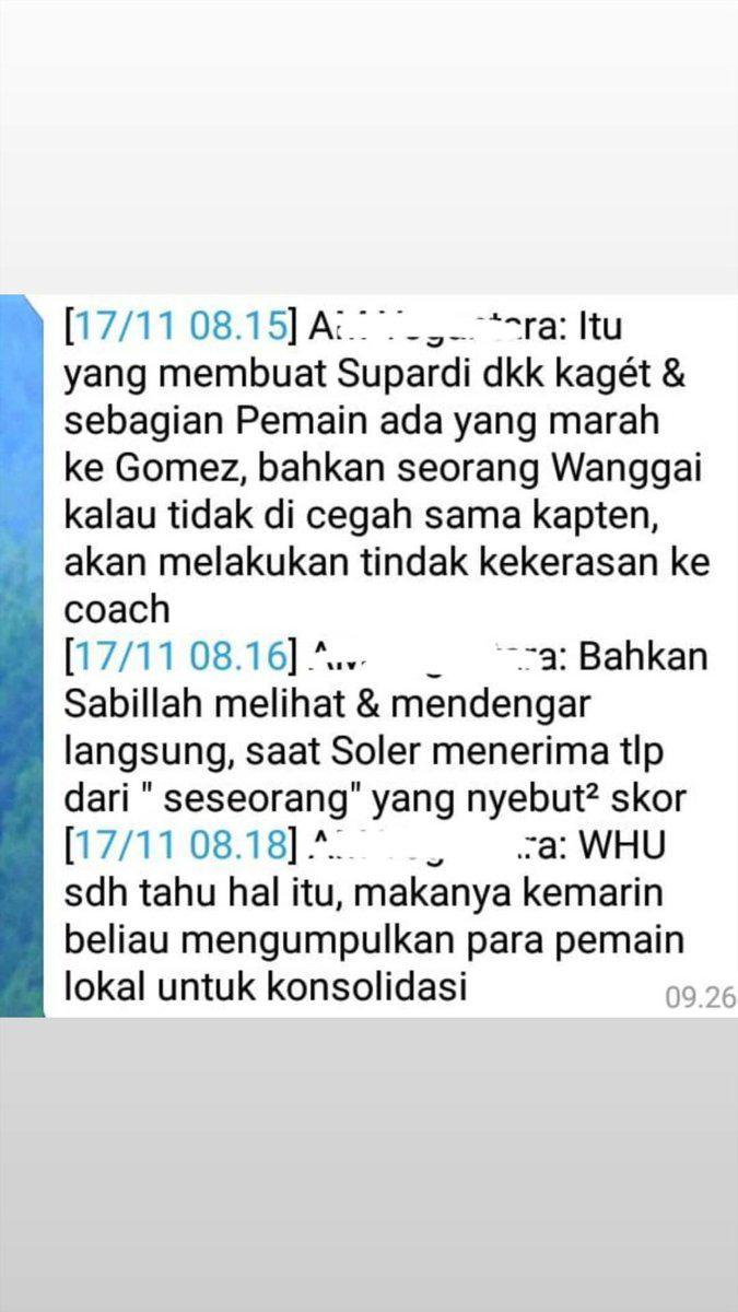 Dugaan suap di tubuh Persib Bandung. Copyright: Twitter@rayhantaswin
