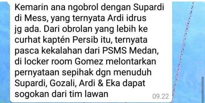 Dugaan suap di tubuh Persib Bandung. Copyright: Istimewa