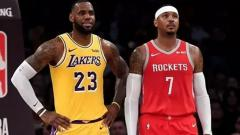 Indosport - Lebron James dan Carmelo Anthony