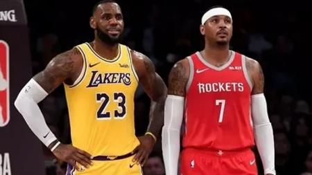 Lebron James dan Carmelo Anthony - INDOSPORT