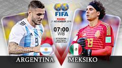Indosport - Pertandingan Argentina vs Meksiko.
