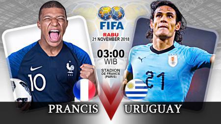Pertandingan Prancis vs Uruguay. - INDOSPORT
