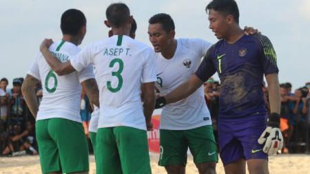 Pemain Timnas Sepak Bola Pantai Indonesia di Piala AFF 2018. - INDOSPORT