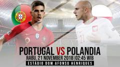 Indosport - Prediksi pertandingan Portugal vs Polandia.