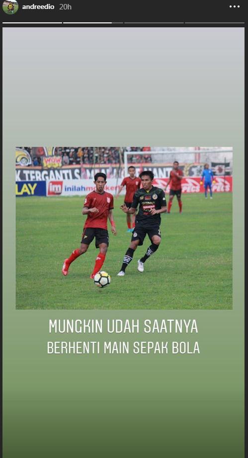 Pemain PSMP Mojokerto Putra Berniat Pensiun dari Sepak Bola Copyright: Instagram