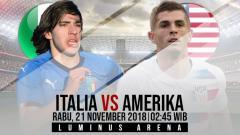 Indosport - Prediksi pertandingan Italia vs Amerika Serikat