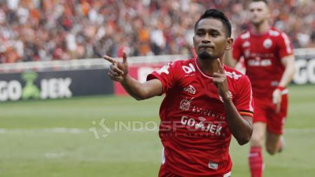 Ramdani Lestaluhu, salah satu pemain andalan Persija Jakarta Foto: Herry Ibrahim/INDOSPORT - INDOSPORT