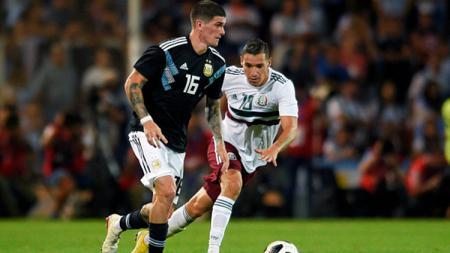 Pertandingan antara Argentina vs Meksiko bisa disaksikan melalui siaran live streaming. - INDOSPORT