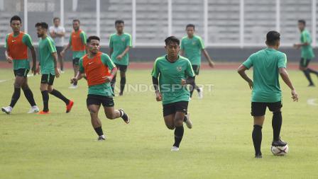 Latihan Timnas Indonesia jelang laga melawan Filipina di partai terakhir penyisihan Grup B Piala AFF 2018.
