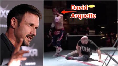 David Arquette, nyaris tewas saat laga WWE. - INDOSPORT