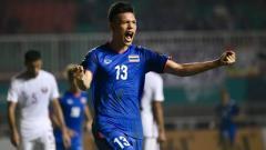 Indosport - Selebrasi Pemain Thailand, Supachai.