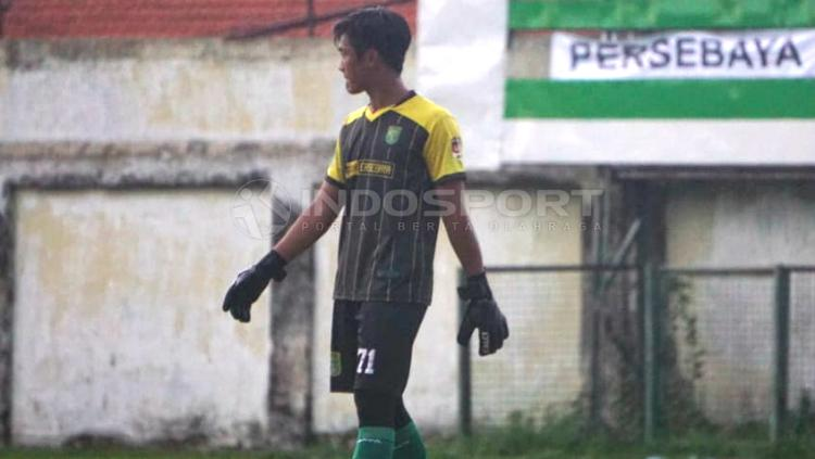 Ernando ketika menghadapi Perseru pada lanjutan elite Pro Academy U-16. Copyright: Fitra Herdian Ariestianto/INDOSPORT