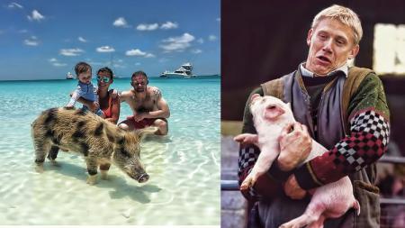 Pemain sepak bola yang pernah berpose dengan babi - INDOSPORT