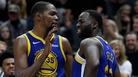 Kevin Durant dan Draymond Green. 2 bintang Golden State Warriors. - INDOSPORT