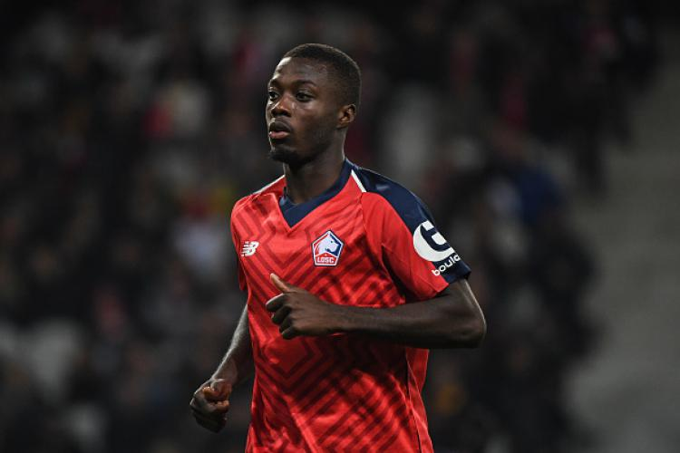Nicolas Pepe, pemain Lille. Copyright: Getty Images
