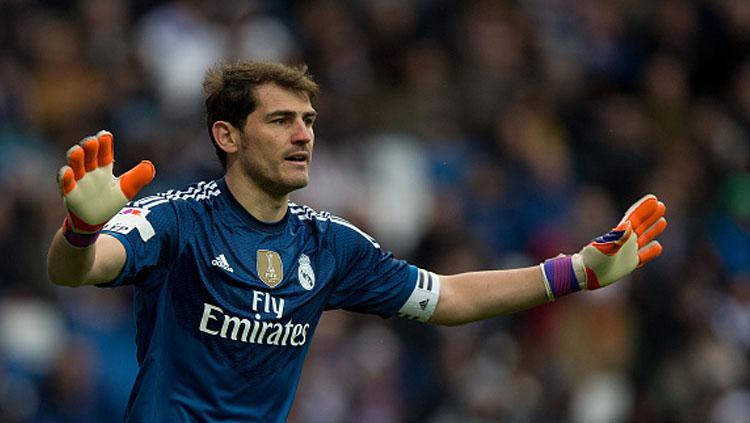 Iker Casillas, saat masih bermain di Real Madrid. Copyright: Getty Images