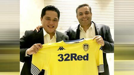 Erick Thohir berfoto bersama Presiden Leeds United, Andrea Radrizzani. - INDOSPORT