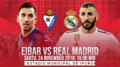 Indosport - Prediksi pertandingan Eibar vs Real Madrid