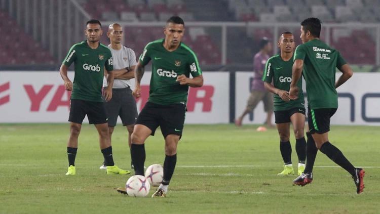 Beto di sesi latihan Timnas Indonesia jelang laga Piala AFF 2018. Copyright: affsuzukicup.com