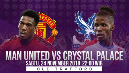 Prediksi pertandingan Manchester United vs Crystal Palace. - INDOSPORT