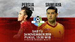 Indosport - Prediksi pertandingan Persija Jakarta vs Sriwijaya FC