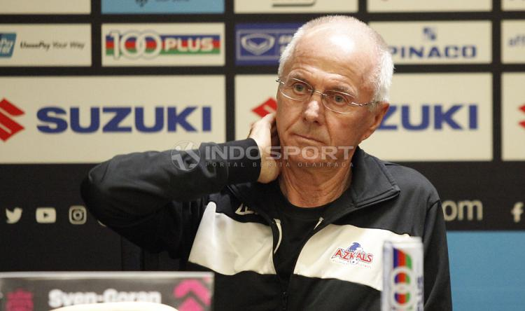 Sven-Goran Eriksson, pelatih Timnas Filipina. Copyright: Herry Ibrahim/INDOSPORT