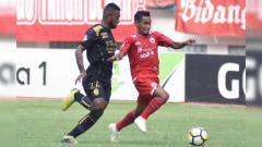 Indosport - Ramdani Lestaluhu di laga Persija vs Sriwijaya FC.