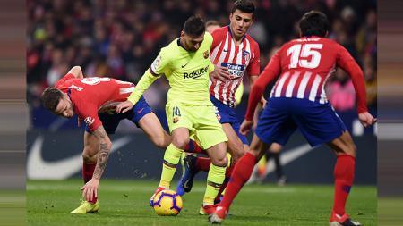 Kehancuran Barcelona dimaknai berbeda oleh Atletico Madrid yang tak hanya senang akan kemenangan, melainkan juga pecahkan rekor gila LaLiga Spanyol. - INDOSPORT