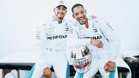 Pembalap F1, Lewis Hamilton dan aktor Will Smith - INDOSPORT