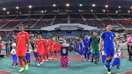 Timnas Thailand vs Singapura di Piala AFF 2018. - INDOSPORT