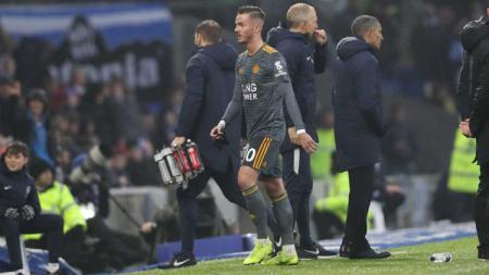 Gelandang Leicester City, James Maddison, menjadi target utama Manchester United di bursa transfer bulan Januari 2020 mendatang. - INDOSPORT