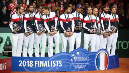 Tim tenis Prancis di Davis Cup 2018. - INDOSPORT