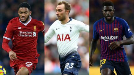 Joe Gomes, Christian Eriksen, Samuel Umtiti adalah 3 pesepak bola yang layak dapat kenaikan gaji. - INDOSPORT