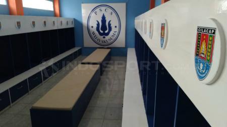 Ruang Ganti Stadion Wijayakusuma, markas klub Liga 3 yaitu PSCS Cilacap. - INDOSPORT