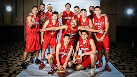 Timnas Basket Indonesia di kualifikasi FIBA Asia Cup 2021. - INDOSPORT