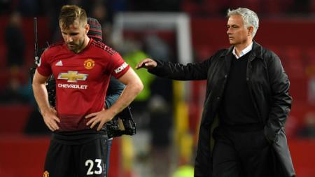 Luke Shaw dan Jose Mourinho - INDOSPORT
