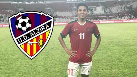 Bek Timnas Indonesia, Firza Andika yang sedang berlatih bersama klub Spanyol. - INDOSPORT