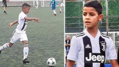 Indosport - Cristiano Ronaldo Jr pesta gol