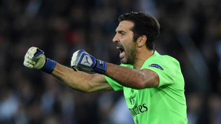 Kiper Paris Saint-Germain (PSG) Gianluigi Buffon. - INDOSPORT