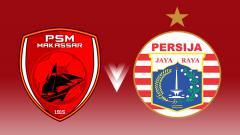 Indosport - Logo PSM Makassar dan Persija Jakarta.