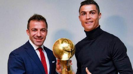 Legenda Juventus, Alessandro Del Piero bersama Cristiano Ronaldo. - INDOSPORT