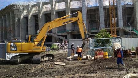 PT PP selaku kontraktor mulai menggarap pembangunan Istora di kawasan Stadion Papua Bangkit - INDOSPORT