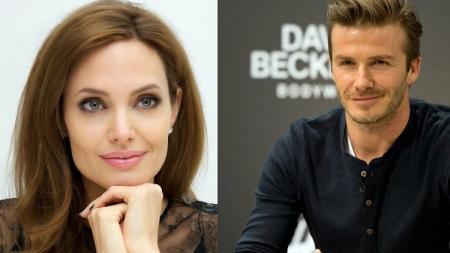 Jolie merupakan fans David Beckham - INDOSPORT
