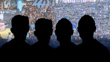 Siluet 4 pemain Persela Vs Persib - INDOSPORT