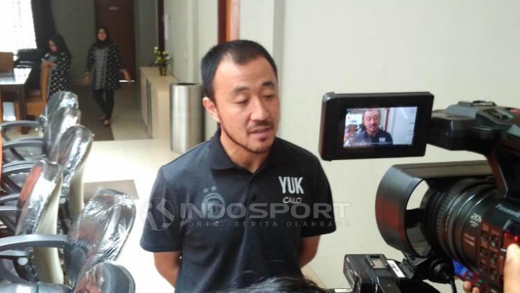 Yoo Hyun-koo, kapten Sriwijaya FC. Copyright: Muhammad Effendi/INDOSPORT