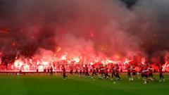 Indosport - Dukungan dari fans Galatasaray