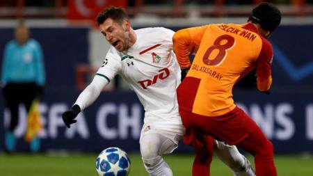 Grzegorz Krychowiak dalam pertandingan Liga Champions, FC Lokomotiv Moscow vs Galatasaray. - INDOSPORT