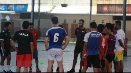 Tim futsal Bifor Papua saat menggelar pemusatan latihan di Jayapura. - INDOSPORT